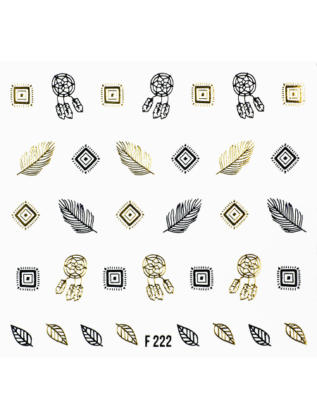 Water decals, nail stickers F 222 image