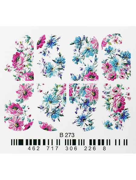 Water decals, nail stickers 3D-слайдер B273 image