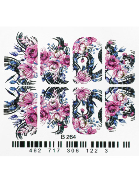 Water decals, nail stickers 3D-слайдер B264 image