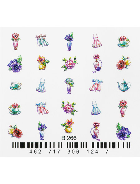 Water decals, nail stickers 3D-слайдер B266 image