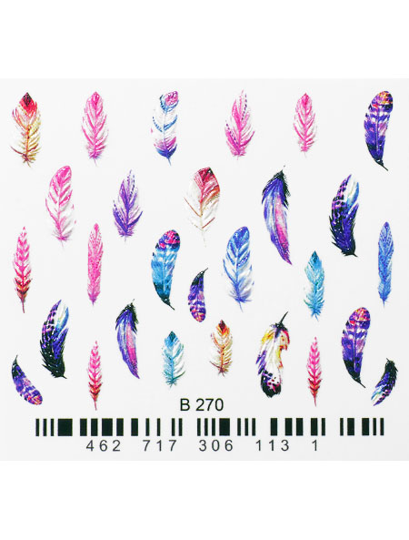 Water decals, nail stickers 3D-слайдер B270 image