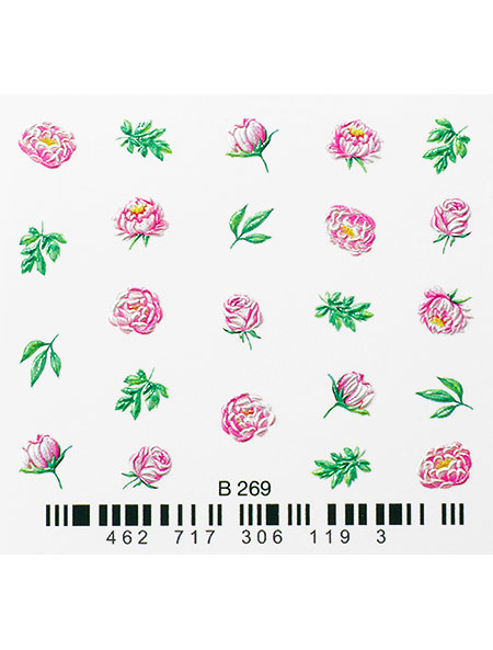 Water decals, nail stickers 3D-слайдер B269 image